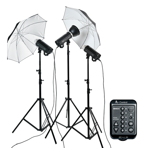 A500 Umbrella Set Flash 3ea : Umbrella, A-Control, Reflector, Honeycomb, TripodSMDV